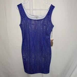 Haute Monde Bodycon Mesh Net Flapper Dress NWT XL